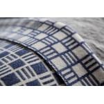 Merino Wool - Alex throw in Sea Holly Blue - Blankets