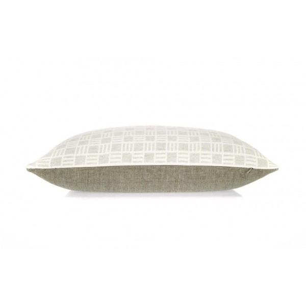 Oblong Alex cushion in Dove Grey Merino Wool