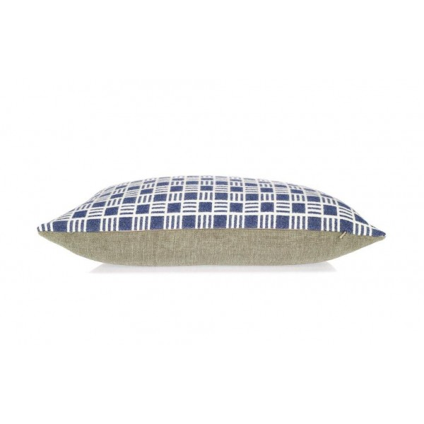 Oblong Alex cushion in Sea Holly Blue Scandinavian Style