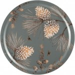PINE CONE MOSS GREY Wooden TRAY