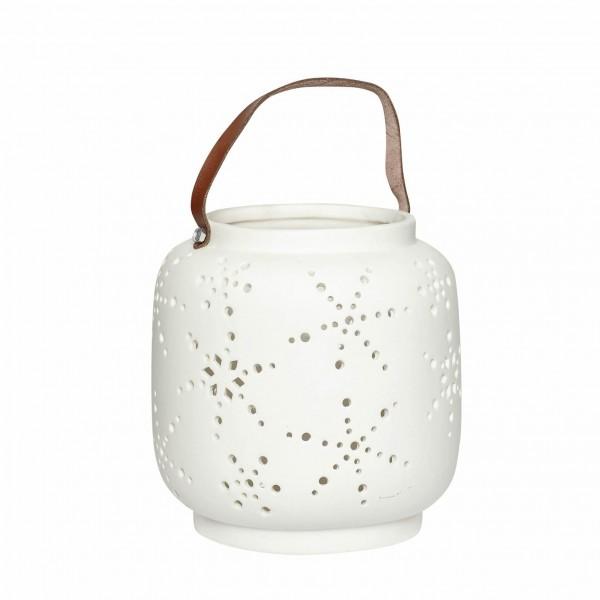 Ceramic White Lantern Small