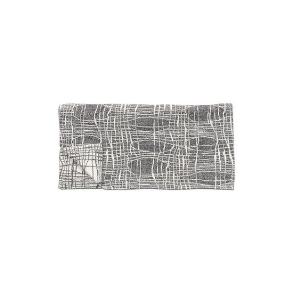 Plaid Cotton Grey White Scandinavian Style Blanket