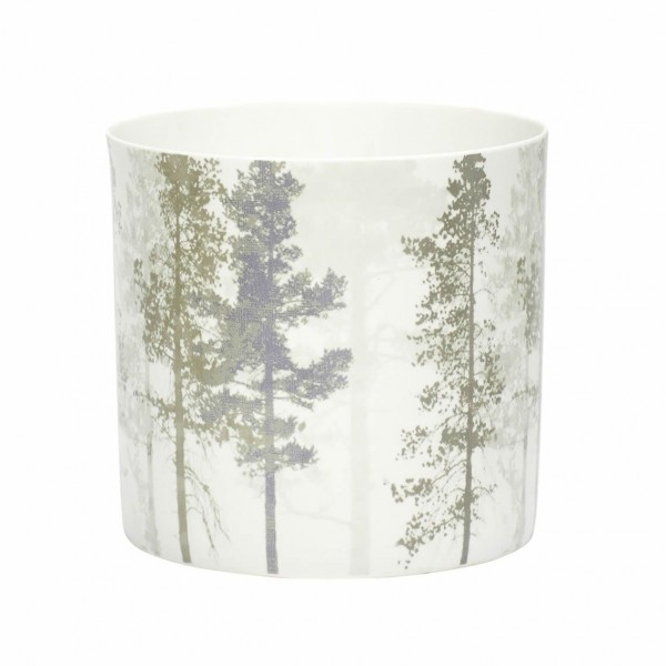 PORCELAIN TEALIGHT HOLDER TREE PRINT Scandi Style