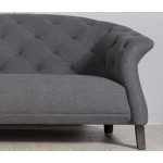 Crispin 4 Seater Sofa Dark Grey - Scandinavian Sofas