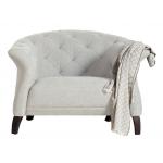 Crispin Armchair Light Grey Scandinavian Style Furniture
