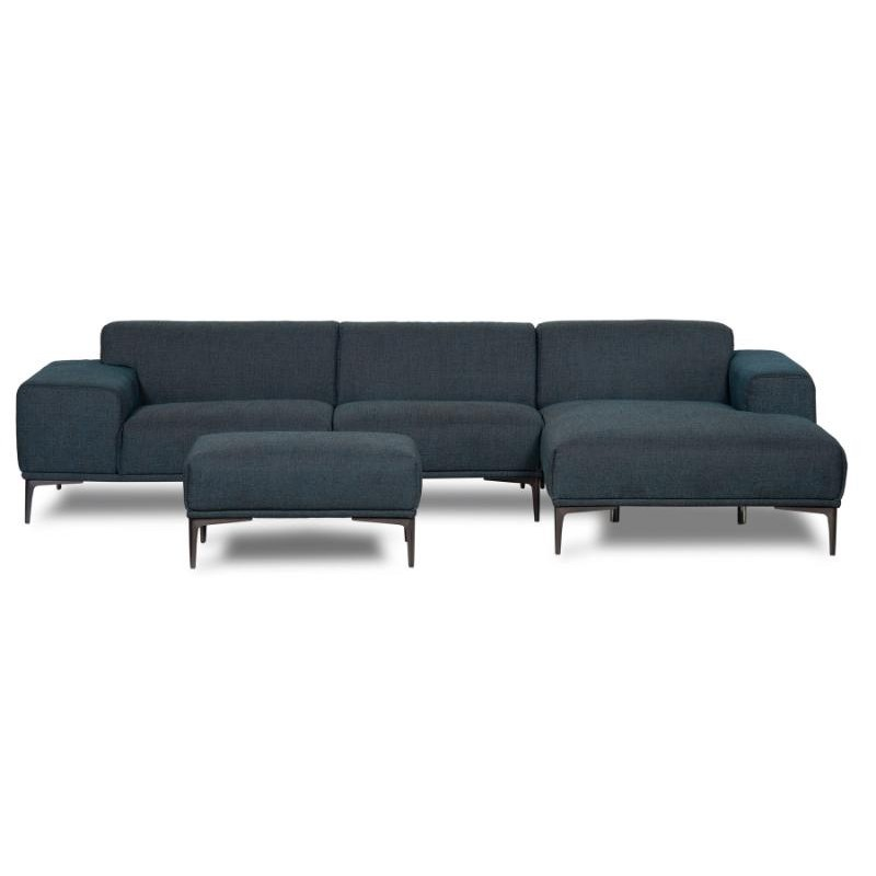 Scandi Sofa| Corner Sofa | Jasper Right Corner Sofa Blue