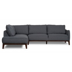 Kendall Left Corner sofa Dark Grey