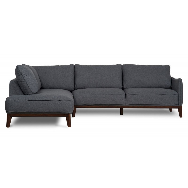 Scandi nordic furniture kendall left corner sofa dark grey for Cool small sofas