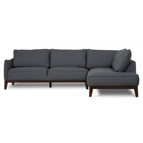 Kendall Right Corner sofa Dark Grey Scandi Style