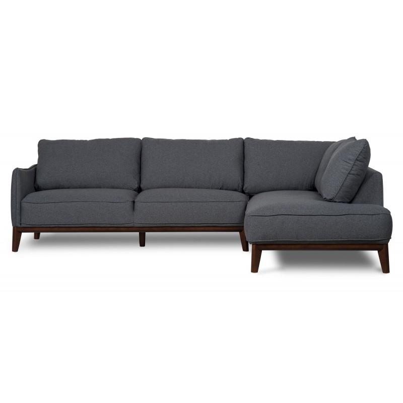 Scandi Sofa | Sectional Couch | Kendall Right Corner sofa Dark Grey