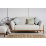 Milo 2 Seater Sofa Light Grey Scandinavian Style