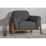Milo Armchair Dark Grey - Scandinavian Furniture