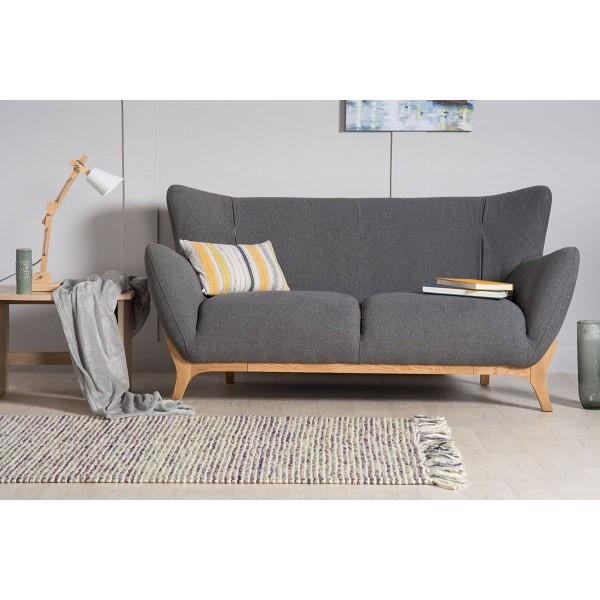 Wesley 2 seater sofa in Dark Grey Nordic Style