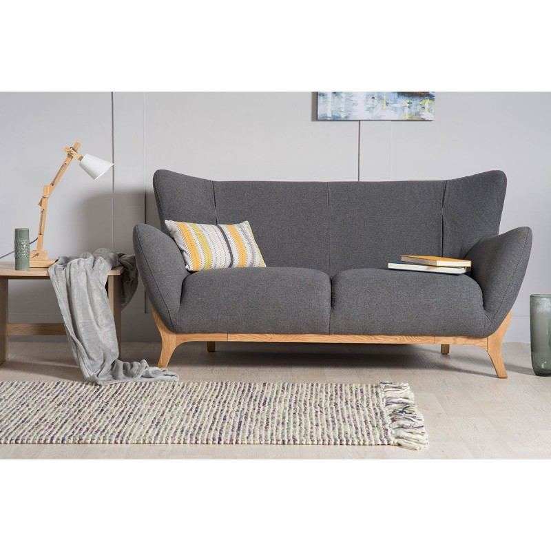 Scandinavian Style Furniture | Wesley 2 seater sofa Dark Grey