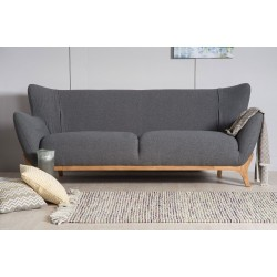 Wesley 3 seater sofa Dark Grey