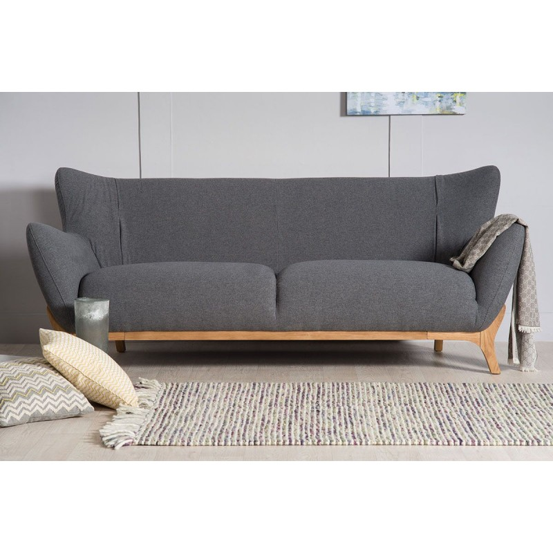 Scandinavian Furniture Wesley 3 Seater Sofa Dark Grey