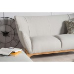 Wesley 2 seater sofa Light Grey - Scandinavian Style Sofas