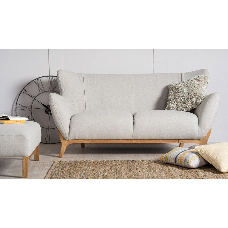 Scandinavian Style Sofas |Wesley 2 seater sofa Light Grey