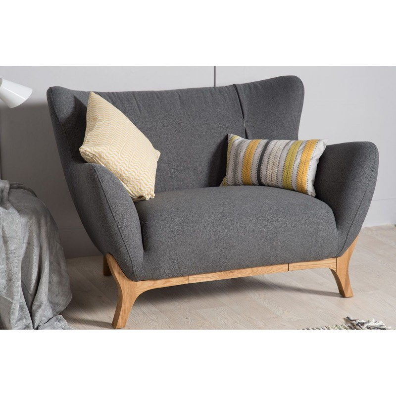 Scandinavian Style furniture | Wesley Armchair Dark Grey
