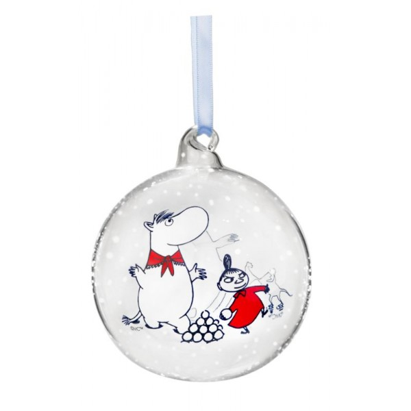 Moomintroll and Snorkmaiden decoration ball