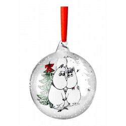MOOMIN WINTER MAGIC  GLASS DECORATION BALL