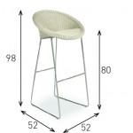 JOE BAR STOOL - Lloyd Loom Furniture