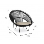 Cruz Cocoon Chair - Scandinavian Style Chairs