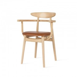 Teo Oak Armchair Upholstered