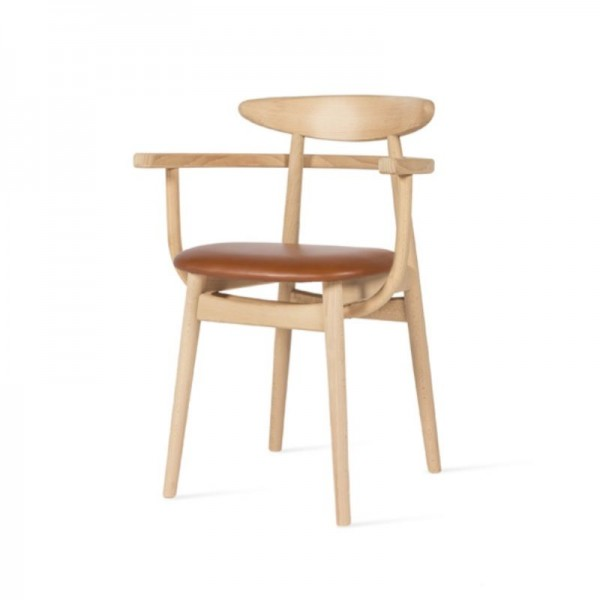 Teo Oak Armchair Upholstered